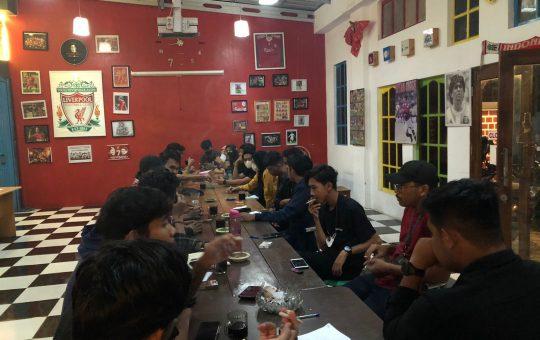 BEM KBM saat melakukan konsolidasi di kafe biruni, Jumat (3/9/2021)