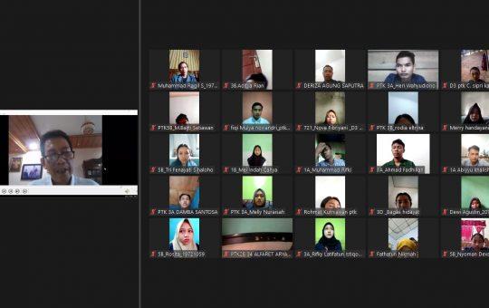 Penayangan Video Larangan Aksi pada Apel Jurusan Budidaya Tanaman Perkebunan, Senin (6/9/2021)
